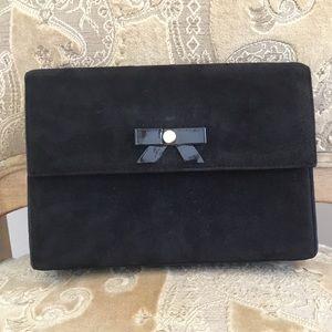 Brino Magli black suede crossbody shoulder bag